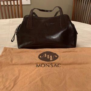 Monsac shoulder bag - Dark Brown leather